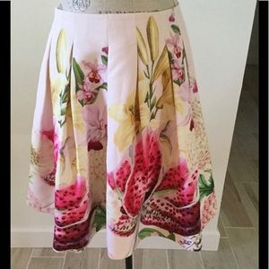 Ted Baker Fit and Flare Orchid skirt size 8